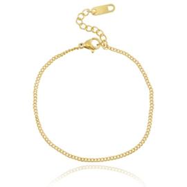 Stainless steel armbandje in goud
