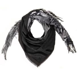 4-in-1 wintersjaal zwart