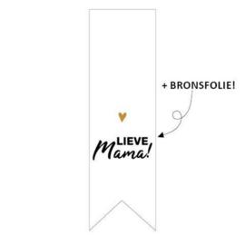 Sticker 'Lieve mama!' | 10 stuks