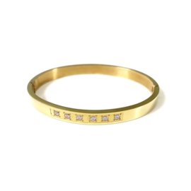 Stainless steel bangle in goud | Six