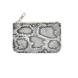 Portemonnee met slangprint wit/zwart