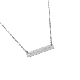 Stainless steel halsketting in zilver | WE LOVE YOU MOM