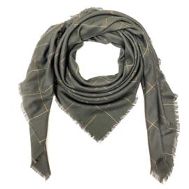 Sjaal met ruit in grijs