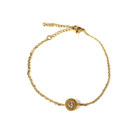 Stainless steel armbandje in goud | Bling