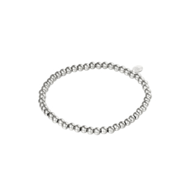 Stainless steel armbandje in zilver | Midi Beads