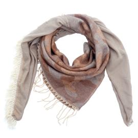 Sjaal 2-in-1 met camouflageprint in beige/cognac/grijs