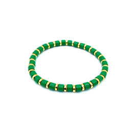 Armbandje groen/goud