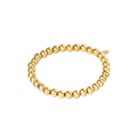 Stainless steel armbandje in goud | Big Beads