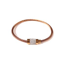 Stainless steel armband in roségoud | Meili