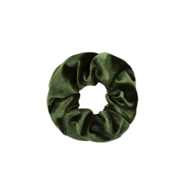 Scrunchie in kaki 'Velvet'