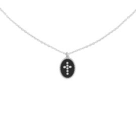 Stainless steel halsketting in zilver | Cross