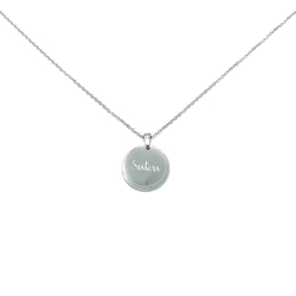 Stainless steel halsketting in zilver | SISTERS