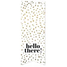 Sticker 'Hello there!' | 10 stuks