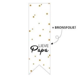 Sticker 'Lieve papa' | 10 stuks