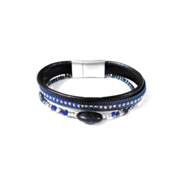 Sweet7 | Armband in blauw | Three