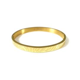 Stainless steel bangle in goud | Zebra