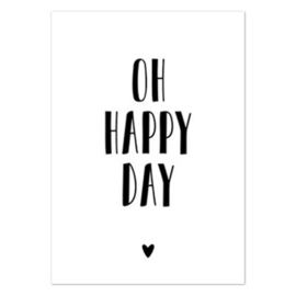 Wenskaart 'Oh happy day'