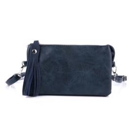 Handtas in donkerblauw