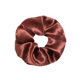 Scrunchie in bruin 'Shiny'