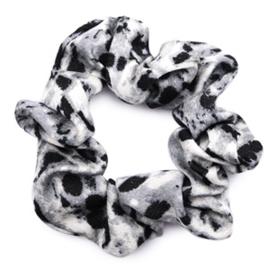 Scrunchie met slangprint in grijs/zwart