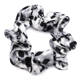 Scrunchie in zwart/grijs 'Snake'