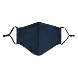 Mondmasker in donkerblauw