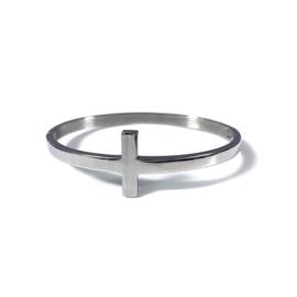 Stainless steel bangle in zilver | Cross