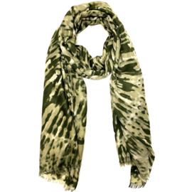 Sjaal in kaki/beige | TIE DYE