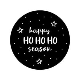 Kerststicker 'Happy HO HO HO season' | 10 stuks