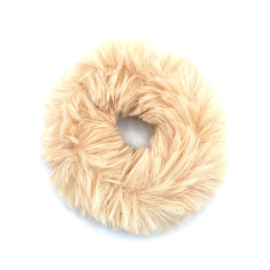 Scrunchie in beige 'Fluffy'