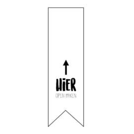 Sticker 'Hier open maken' | 10 stuks