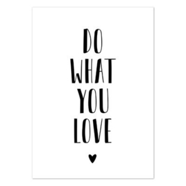 Wenskaart 'Do what you love'