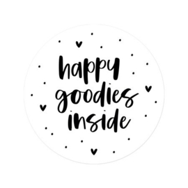 Sticker 'Happy goodies inside' | 10 stuks