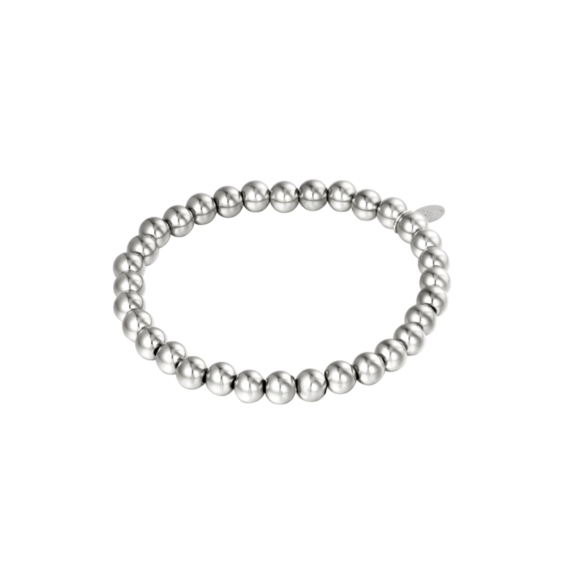 Stainless steel armbandje in zilver | Big Beads