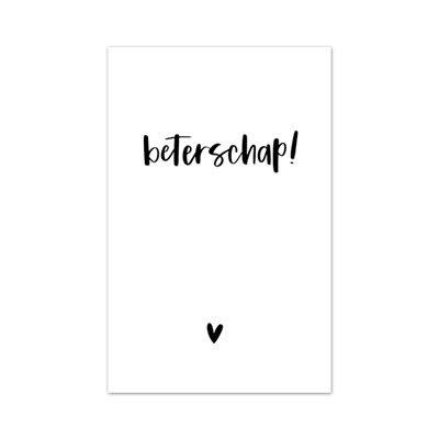 Minikaartje 'Beterschap!'