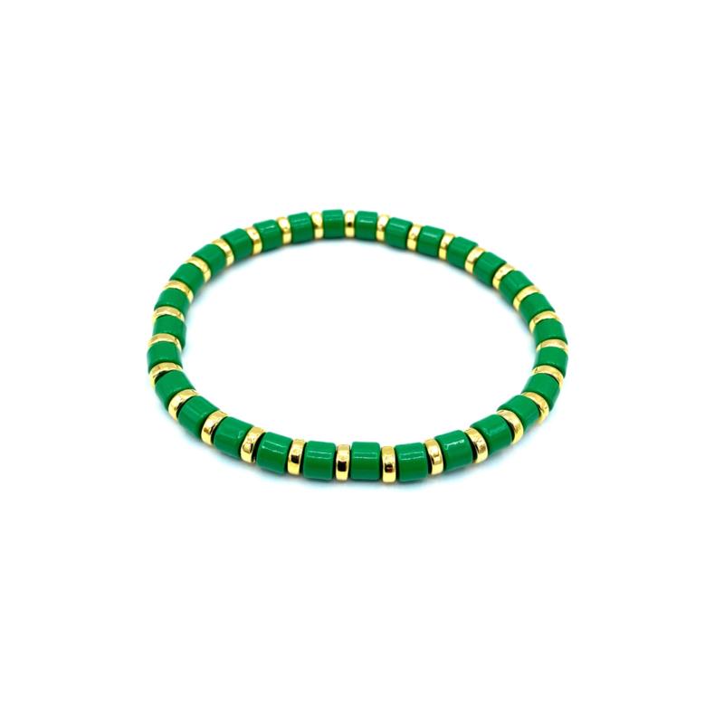 Armbandje goud/groen