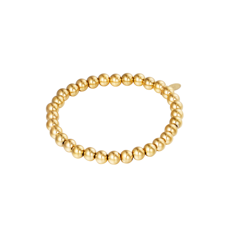 Stainless steel armbandje in goud | Big Beads