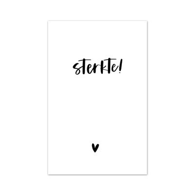 Minikaartje 'Sterkte!'