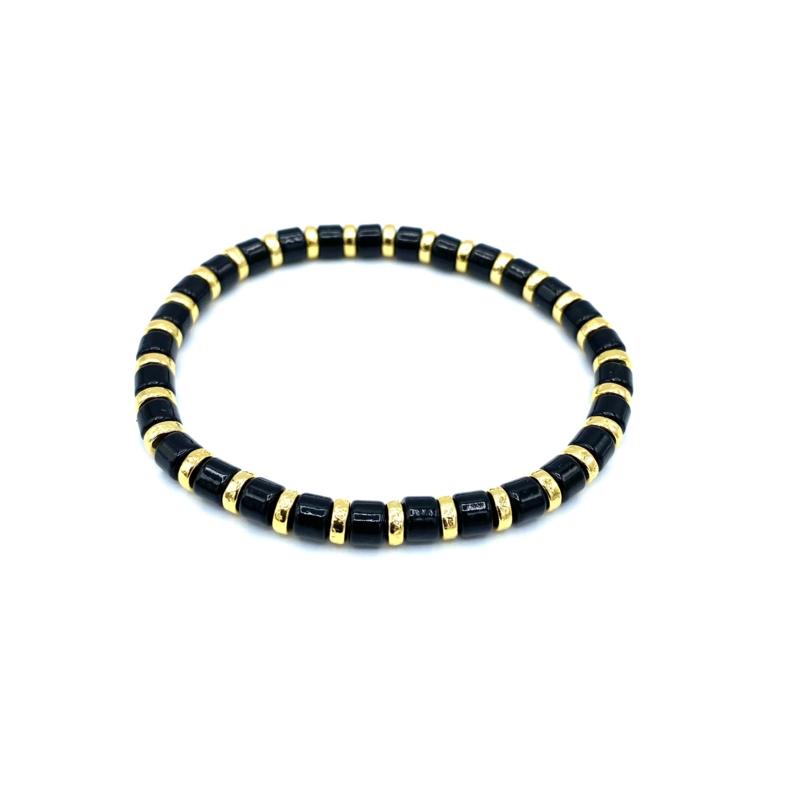 Armbandje goud/zwart