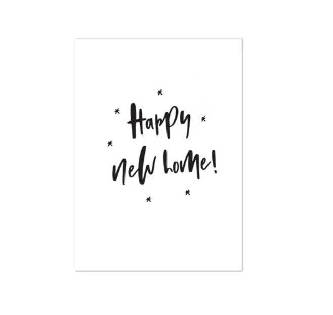 Minikaartje 'Happy new home!'