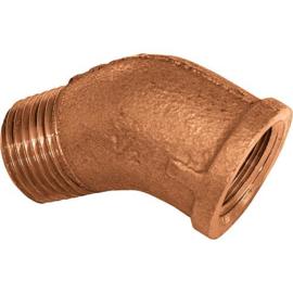 bronze bocht 45 gr bi x bu