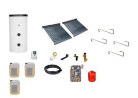 Doe het zelf - 400L boiler - 2 x 30 heatpipes  4.56 m2