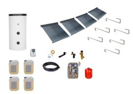 Doe het zelf - 1000L boiler - 4 x 30 heatpipes  9.12 m2