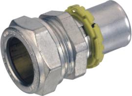 2 x aangeperste koppeling gasleiding