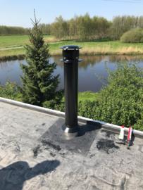 Veranda - Installatie pakket plat dak 125/175mm - alles dubbelwandig