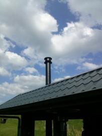 Installatie pakket schuin dak 180mm - alles dubbelwandig
