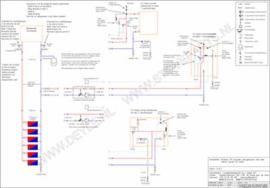 CV-houtkachel en gas ketel - met keerkleppen (basic)