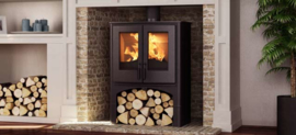 Nordic fire Lodge met houtvak