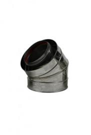 Concentrische 130 - 200 mm - 45 gr bocht