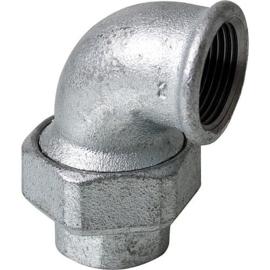 staal 3-delige draad fittingen haaks bi x bi